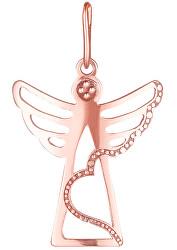 Prívesok z ružového zlata Anjelik PA6163