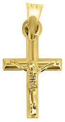 Prívesok zo žltého zlata Ježiš na kríži CRS067_AU_Y