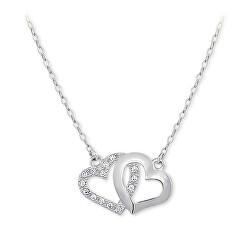 Romantický náhrdelník prepojená srdiečka 279 001 00096 07