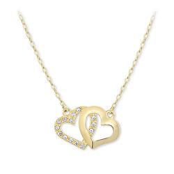 Romantický náhrdelník prepojená srdiečka 279 001 00096
