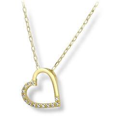 Romantický náhrdelník zo žltého zlata 279 001 00084 00