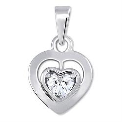 Romantický přívěsek z bílého zlata Srdce 246 001 00471 07