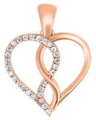 Romantický prívesok z ružového zlata PENT243_AU_R
