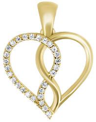 Romantický přívěsek ze žlutého zlata PENT243_AU_Y