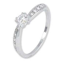 Csillogó fehér arany gyűrű kristállyal SR031WAU