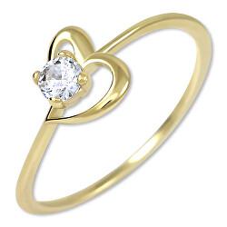 Zásnubný prsteň s kryštálom Srdce 226 001 01033