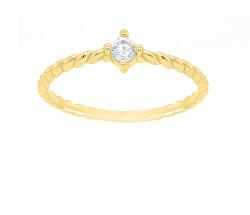 Eljegyzési gyűrű sárga aranyból kristállyal  GR022YAU