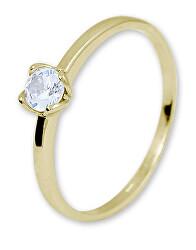 Zásnubní prsten ze žlutého zlata se zirkonem 226 001 01077