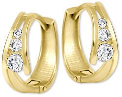 Zlaté náušnice krúžky so zirkónmi 239 001 00800