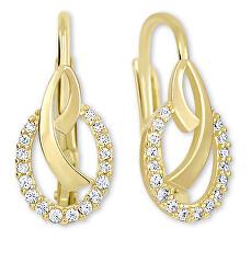 Zlaté náušnice s krystaly 239 001 00797