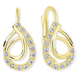 Zlaté náušnice s krystaly 239 001 01065