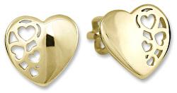 Zlaté náušnice Srdiečka 231 001 00648