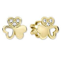 Zlaté srdiečkové s kryštálmi 239 001 00938