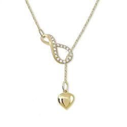 Zlatý originálny náhrdelník Nekonečno so srdiečkom 279 001 00097 00