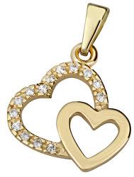 Zlatý prívesok Dve srdcia 745 249 001 00490 0000000