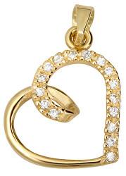 Goldanhänger mit Kristallen Herz 249 001 00451