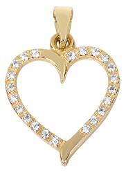 Zlatý prívesok Srdce s čírymi kryštálmi 249 001 00462