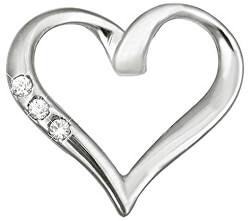 Zlatý prívesok srdce s kryštálmi 249 001 00354 07