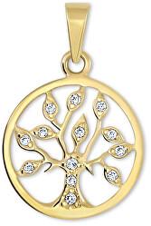 Zlatý prívesok Strom života s kryštálmi 249 001 00442
