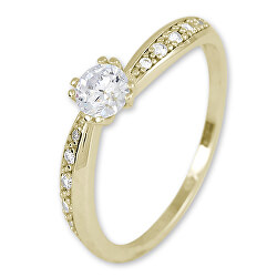 Zlatý prsten s krystaly 229 001 00830 00