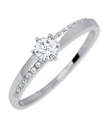 Arany eljegyzési gyűrű kristályokkal 229 001 00762 07