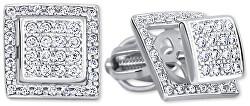 Štvorcové zlaté náušnice s čírymi kryštálmi 2v1 239 001 00861 07