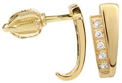 Náušnice ze žlutého zlata s krystaly 239 001 00575