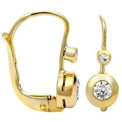 Zlaté náušnice s kryštálmi 239 001 00060