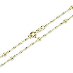 Zlatý náhrdelník Lambáda s guličkami 42 cm 273 115 00006