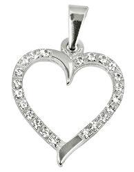 Zlatý prívesok Srdce s čírymi kryštálmi 249 001 00462 07