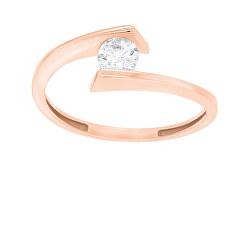 Elegantní pozlacený prsten se zirkonem SR037R