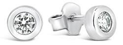 Jemné stříbrné náušnice se zirkonem GOLD013