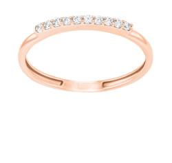Jemný bronzový prsten se zirkony GR067R