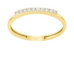 Jemný pozlacený prsten se zirkony GR067Y
