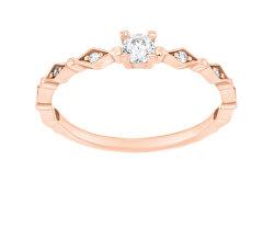 Krásný bronzový prsten se zirkony SR035R