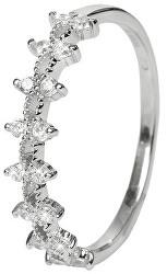 Modern ezüst gyűrű kristályokkal SRJ05