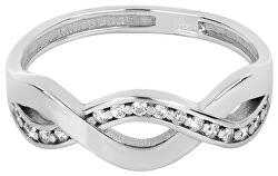 Nežný strieborný prsteň 426 001 00425 04