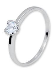 Něžný stříbrný prsten se zirkonem 426 001 00576 04