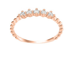 Okouzlující bronzový prsten se zirkony GR122R