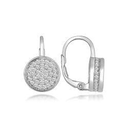 Okouzlující stříbrné náušnice třpytivé kruhy LME272