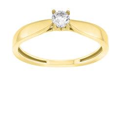 Pozlacený zásnubní prsten GR114Y