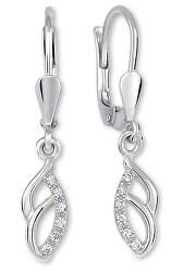 Půvabné stříbrné náušnice s krystaly 436 001 00572 04