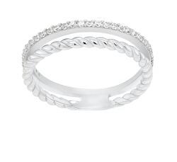 Půvabný stříbrný prsten se zirkony GR044W