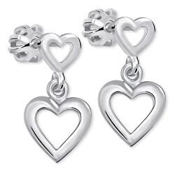 Romantické náušnice ze stříbra 431 001 02610 04