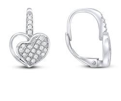 Romantické stříbrné náušnice srdíčka EA51