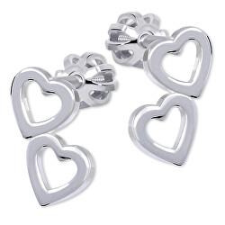 Srdíčkové náušnice ze stříbra 431 001 01502 04