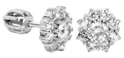 Stříbrné náušnice s krystaly 436 001 00321 04 - čiré