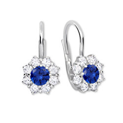Stříbrné náušnice s krystaly 436 001 00322 04 - modré