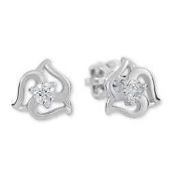 Stříbrné náušnice se krystaly 436 001 00568 04