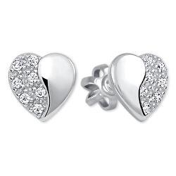 Stříbrné náušnice Srdce 436 001 00432 04